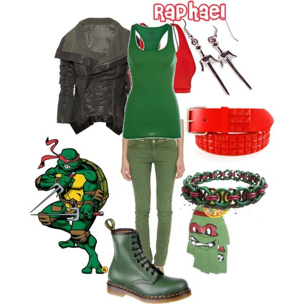 """TMNT - Raphael"" by doryishness on Polyvore"