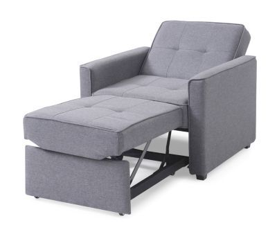 Gold Sparrow Chandler Gray Convertible Arm Chair Bed