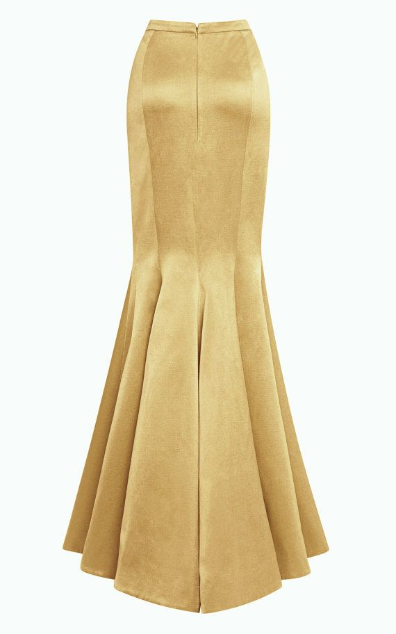 Floor length maxi Crepe Satin skirt Paneled skirt by Gorgones, €220.00