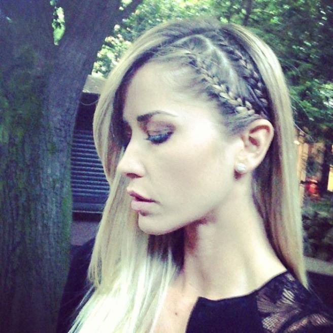 Elena Santarelli, Make-up & Hair by Elisa Rampi, braid