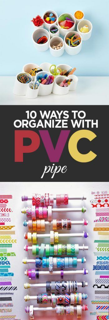 PVC Pipe, PVC pope projects, home organization, easy organization, DIY organizat…