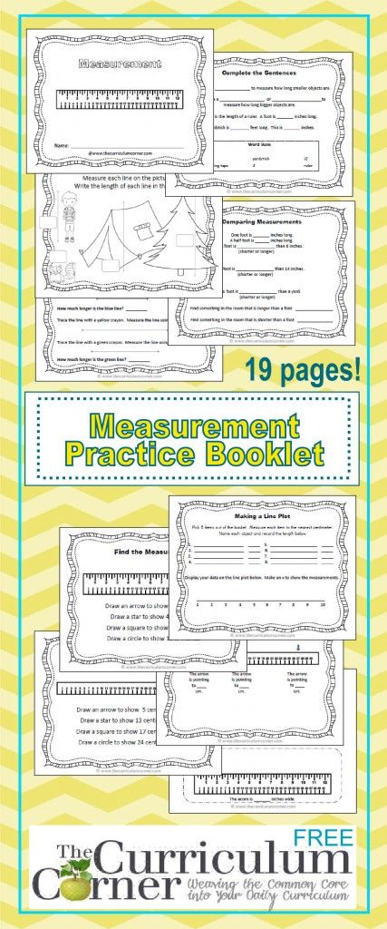 Printable Measurement Booklet FREE from The Curriculum Corner | 1st grade | 2nd grade