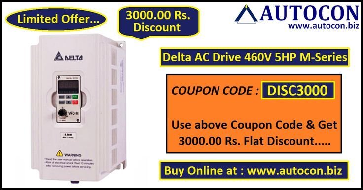 Buy Delta AC Drive 460V 5HP M-Series with best discounted price at our Online Purchase & Business Portal....