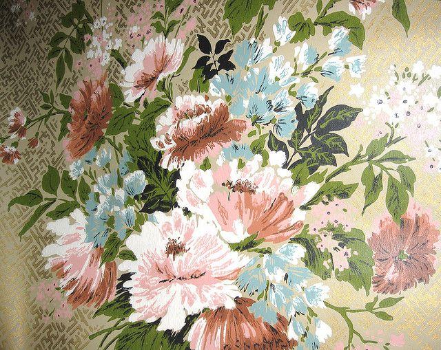 vintage wallpaper for sale   Vintage Floral Park Lane Wallpaper Reproduction of Victorian Wallpaper ...