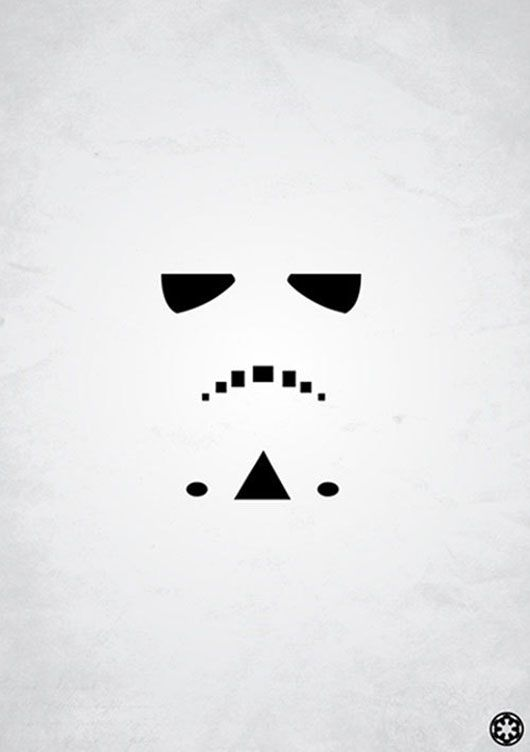 Guerra nas Estrelas Stormtrooper cartaz minimalista