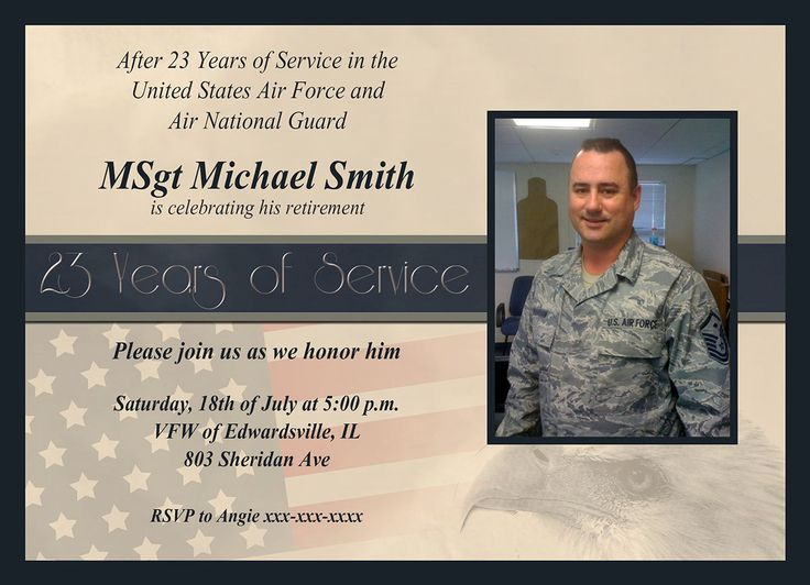 17 Best images about Military retirement party invitations on ...