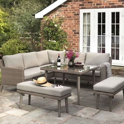 Kettler Merida Corner Set - (0194410-4009C) - Garden Furniture World