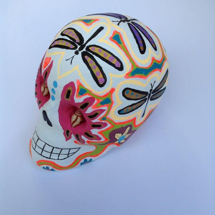Hand made clay sugar skull