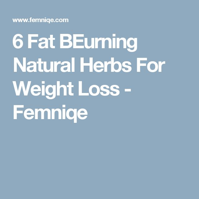 Herbs for weight loss 6 Fat Burning Natural Herbs For Weight Loss