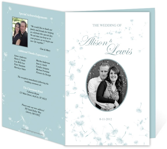 Wedding Programs and Templates: Letter Single Fold: Dandylion DIY Printable Wedding Program Template