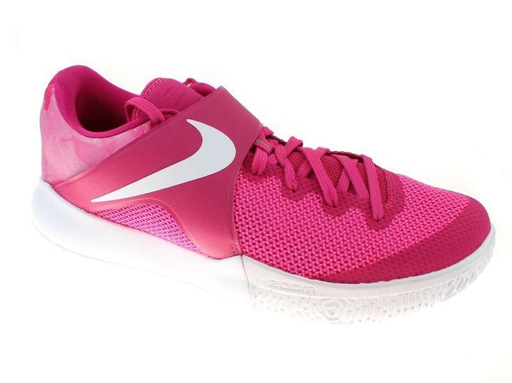 Nike Zoom Live Mens Size 13 Vivid Pink White Kay Yow Basketball Shoes #Nike #BasketballShoes #thinkpink #breastcancerawareness