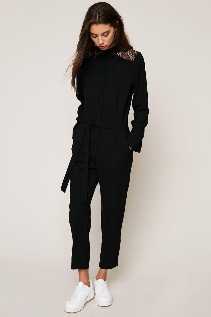 Les 25 meilleures id es de la cat gorie combinaison noire sur pinterest combinaisons noires - Quelles chaussures avec une combinaison noire ...