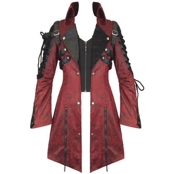 PUNK RAVE MENS POISONBLACK JACKET RED Violent Delights ❤ liked on Polyvore featuring men's fashion, men's clothing, men's outerwear, men's jackets, mens mesh motorcycle jacket, mens jackets, mens gothic jacket and mens steampunk jacket