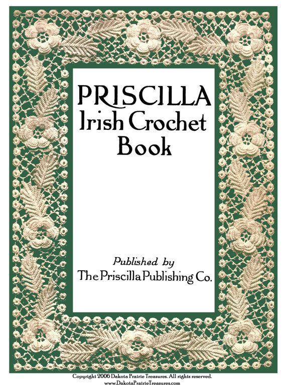 1920 Edoardiana Priscilla pizzi all'uncinetto irlandese prenotare 1 ° Margherita di rosa motivo floreale modelli Baby Bonnet isola di smeraldo fai da te