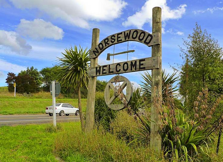 Norsewood, Welcome with an axe? see more at New Zealand Journeys app for iPad www.gopix.co.nz