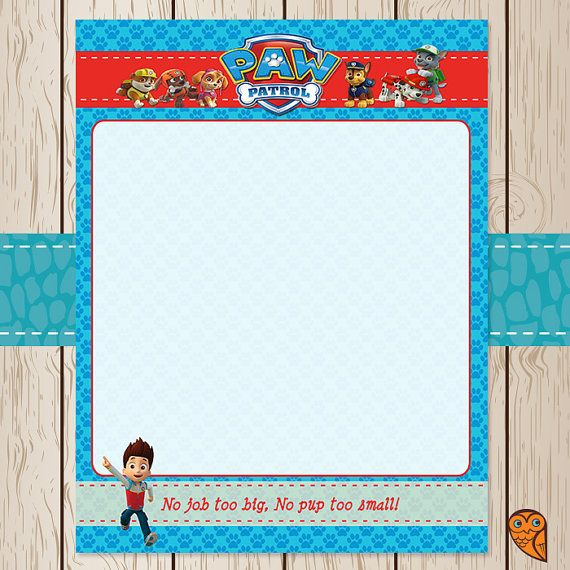 28 best images about paw patrol on pinterest goody bags for Paw patrol invitation template free