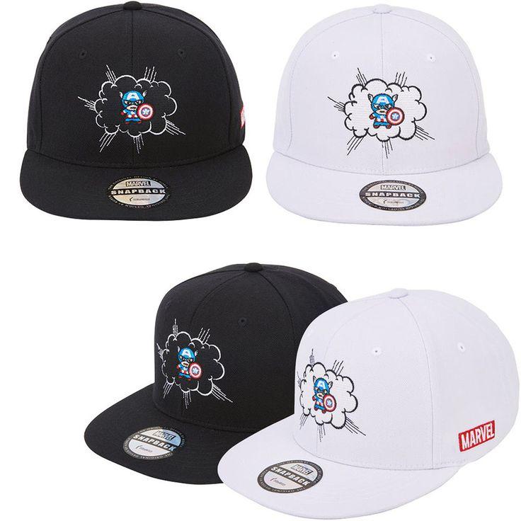 Mens Marvel Avengers Civil War Captain America Cloud Baseball Snapback Hats Caps #Marvel #BaseballSnapbackCapHats