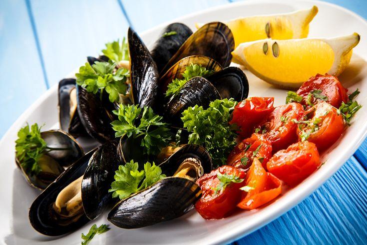 Морепродукты, mussels, Тарелка, Пища, Продукты, Еда