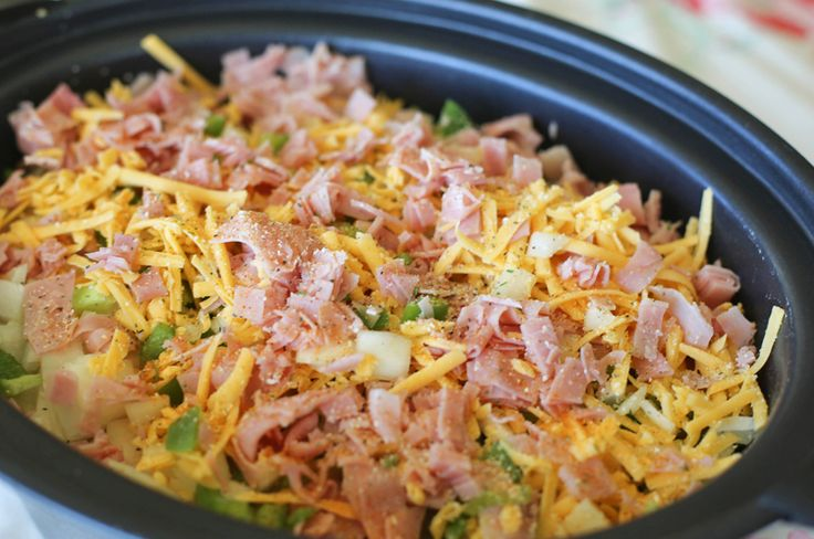Ham & Cheese Scalloped Potatoes in the Slow Cooker - My Crazy Life as a Farmers Wife