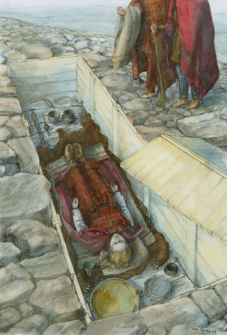 Iron Age burial of a woman in Klepp in Rogaland by Eva Gjerde