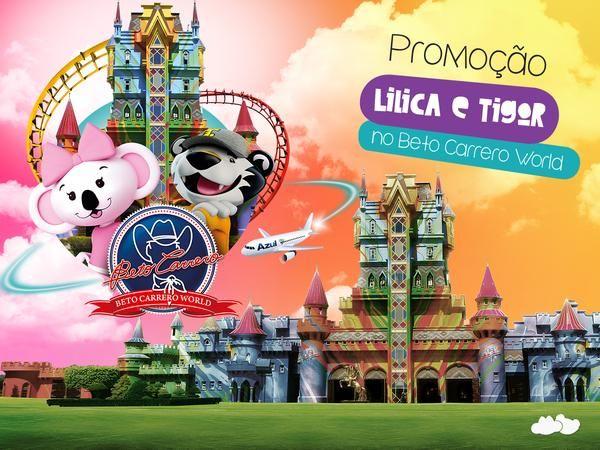 Promoção Lilica e Tigor no Beto Carrero World