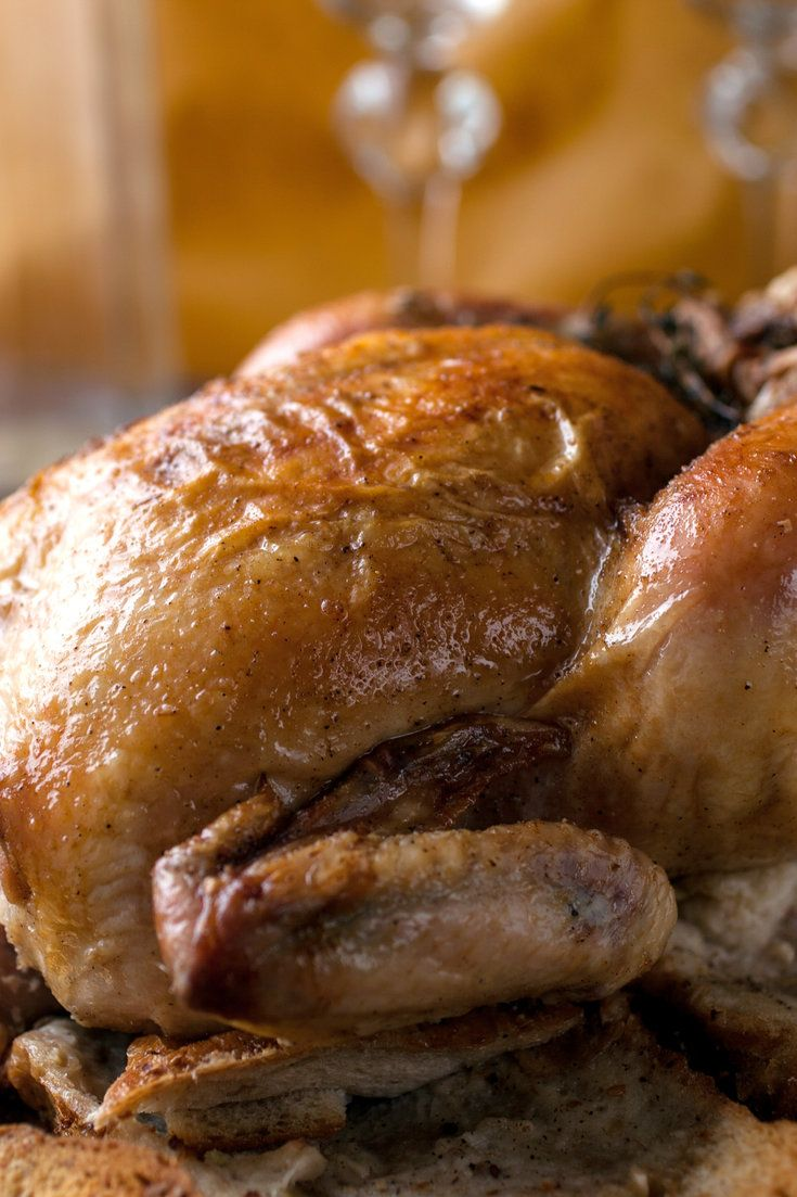 NYT Cooking: This roast chicken recipe puts all of the juices that normally collect at the bottom of the roasting pan (only to be discarded) to gloriously good use. The bird, which is stuffed with garlic, lemon and herbs, is placed on top of a pile of stale bread (all different kinds of breads work, including baguettes, country loaves and even pita) that's been drizzled with oliv...