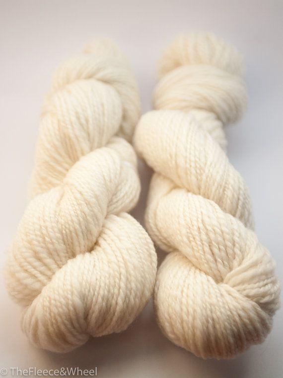 Hand Spun Yarn / Hand Spun Merino / Knitting Yarn / Undyed /