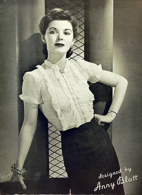 1940s vintage crochet blouse by wondertrading, via Flickr