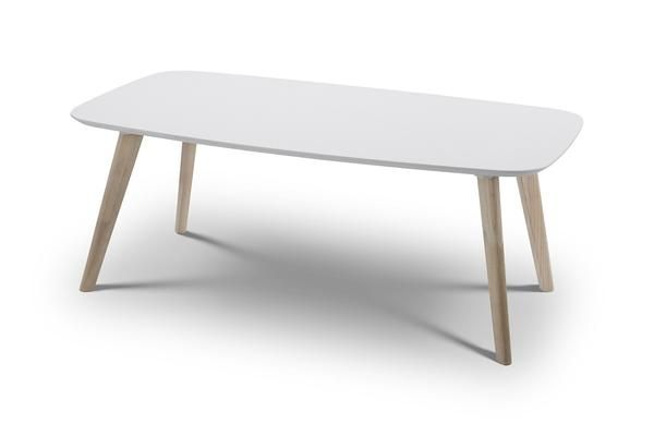 Casa Coffee Table in white top and Oak legs. A timeless retro design reflecting…