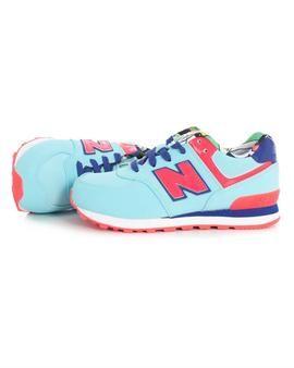 Zapatillas New Balance 574  Kids Turquesa Azul, rojo,blanco... en una tonalidad pastel. ¡Nos encantan! #zapatillas #newbalance #niña #tiendaonline #moda