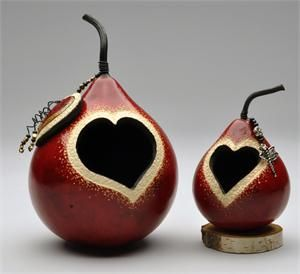 Heart Gourd Votive by Dianne Connelly
