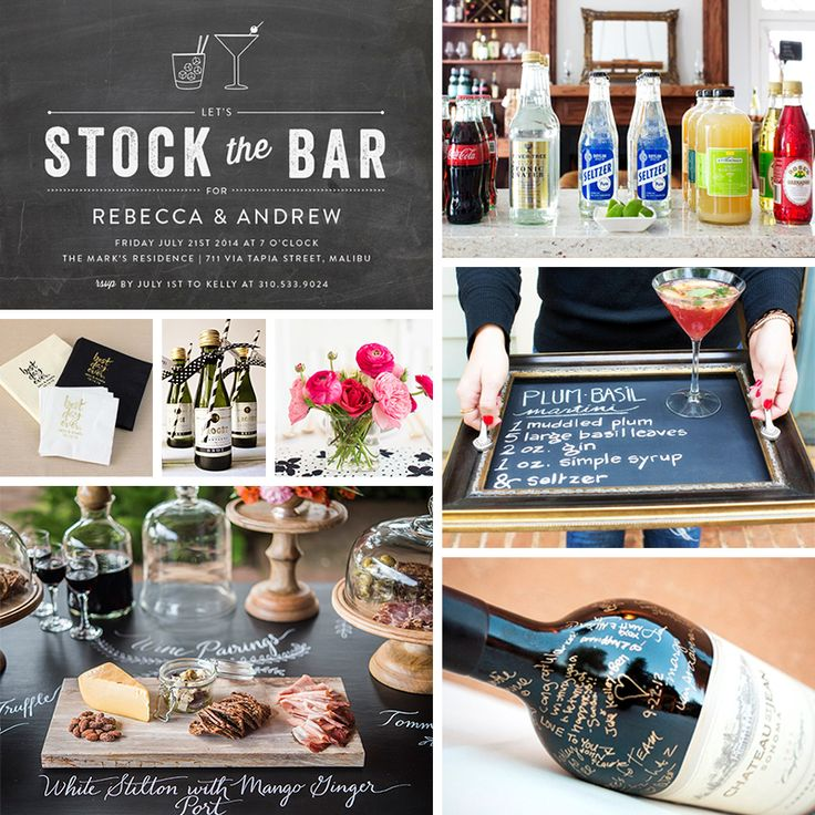 22 best Stock The Bar Party Theme images on Pinterest | Wedding ...