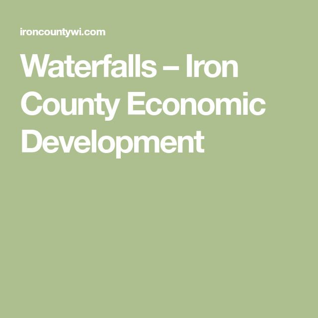 Waterfalls – Iron County Economic Development