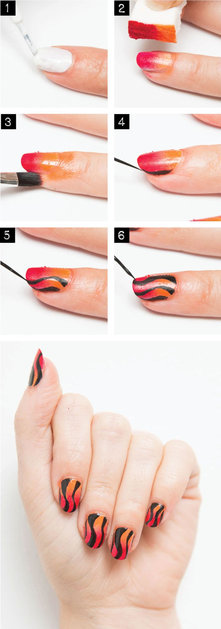 nail art unghie halloween how to