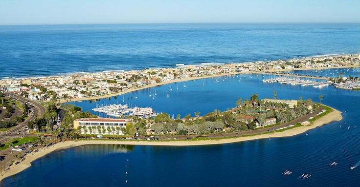 Birds eye view of Mission Bay and the Bahia Resort!