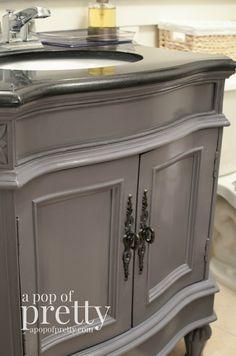 bathroom vanity makeover behr paint                              …