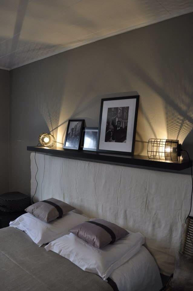 interesting tte de lit cottage drapage crue tagre pour lampe de chevet aurelie hemar with lampe. Black Bedroom Furniture Sets. Home Design Ideas