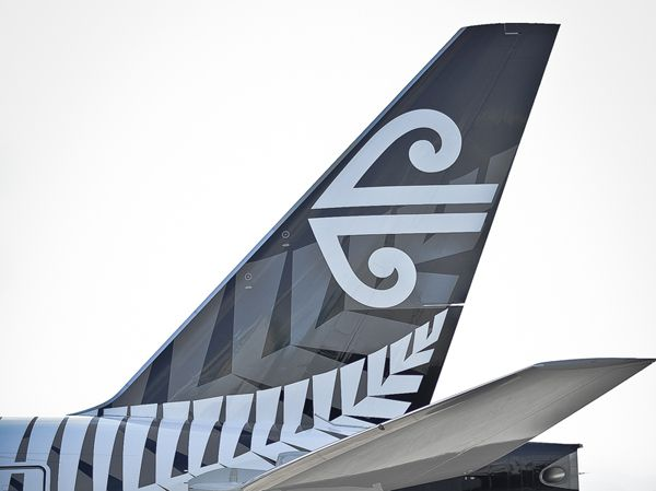 All blacks Air New Zealand