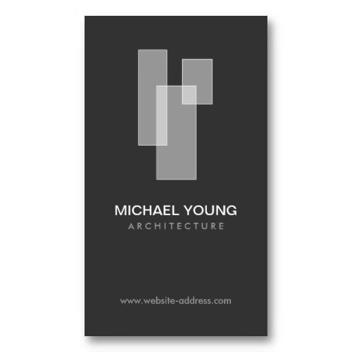 WHITE BLOCKS LOGO for Architects, Builders, Design Business Cards
