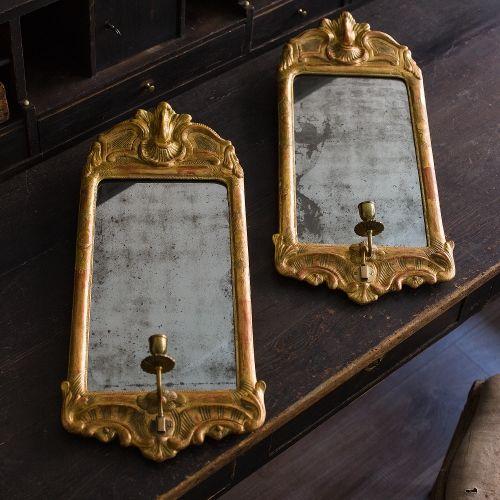 Swedish Rococo Mirror Sconces