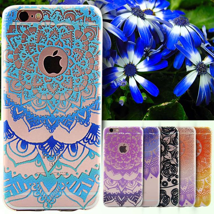 Case For iPhone 5 5S SE/6 6S/6 S Plus Cover Floral Paisley Flower Mandala Datura Capinha Coque For iPhone 5 5S 6S Case Silicone
