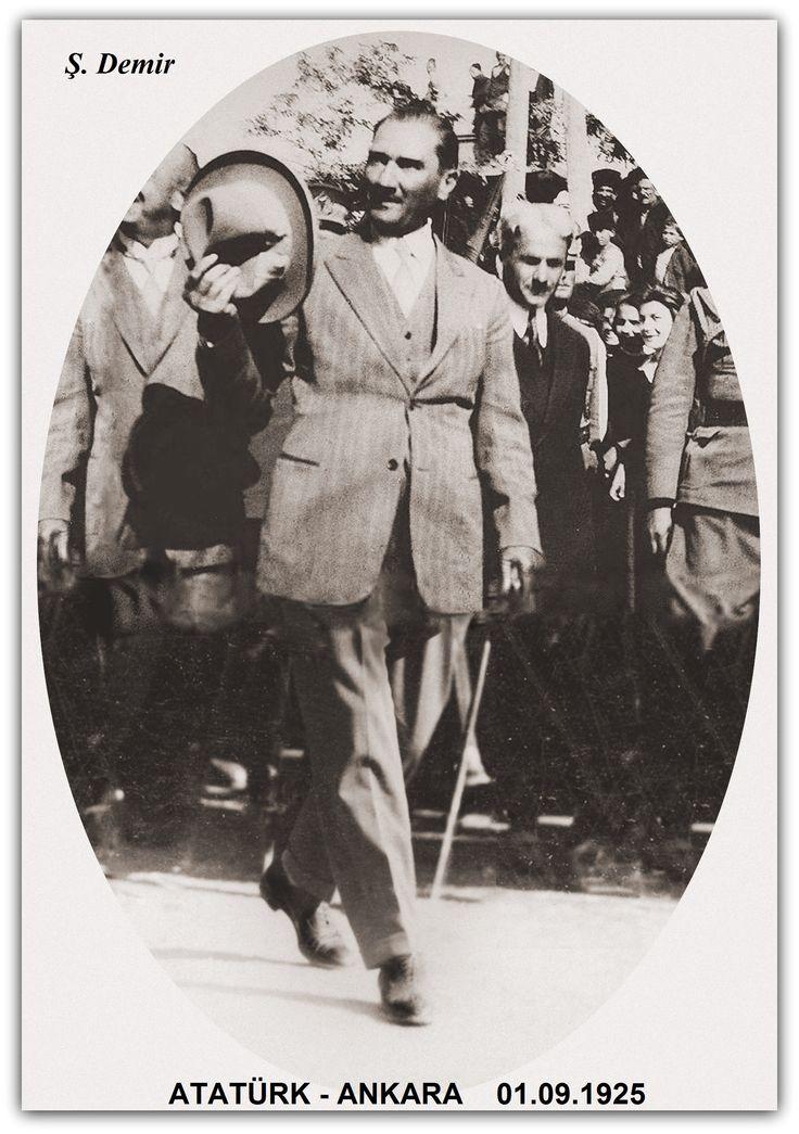 Atatürk Ankara'da. 01.09.1925