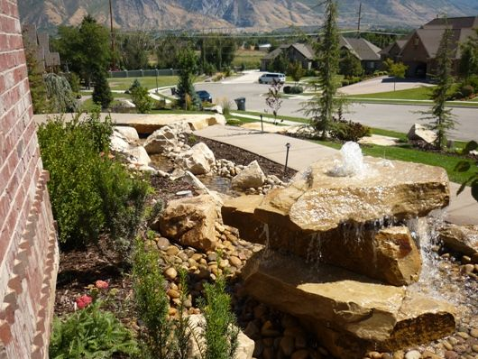 106 best water features images on pinterest garden for Landscaping rock removal
