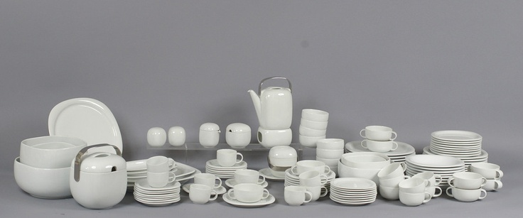 Suomi dining and coffee service. Design by Timo Sarpaneva, Rosenthal. I love the shape of these!