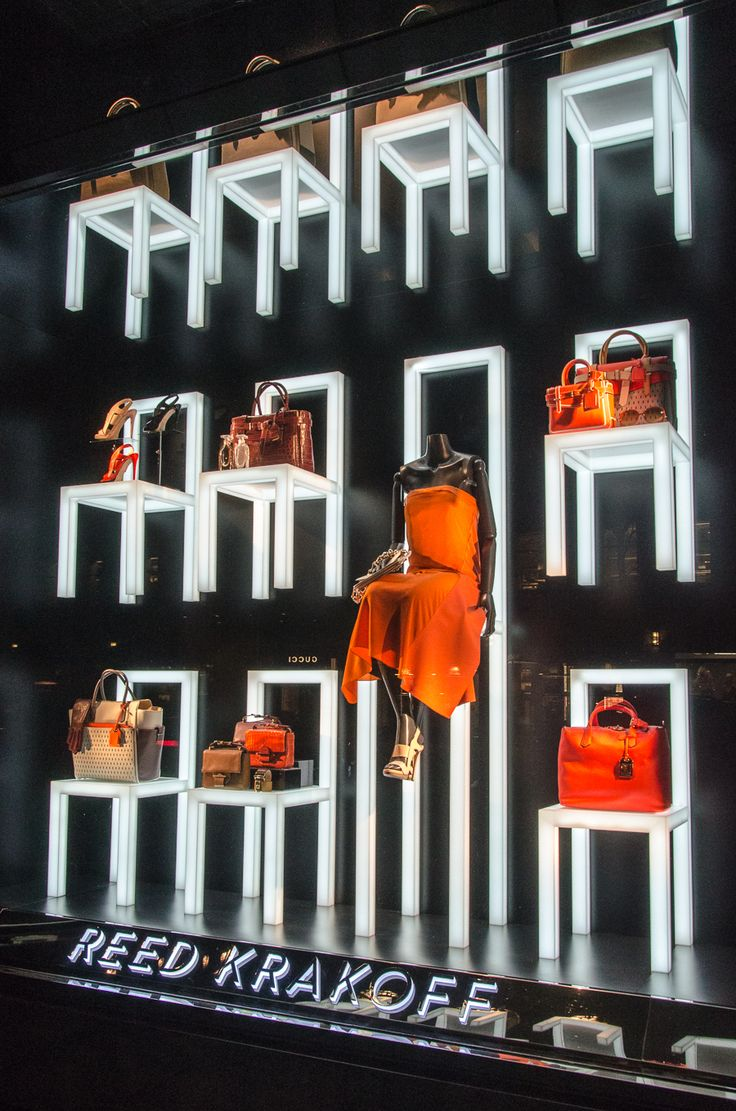 ♂ Retail store window display visual merchandising - Reed Krakoff – Madison Ave