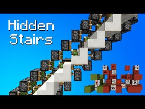 Minecraft Secret/Hidden Piston Stairs - YouTube