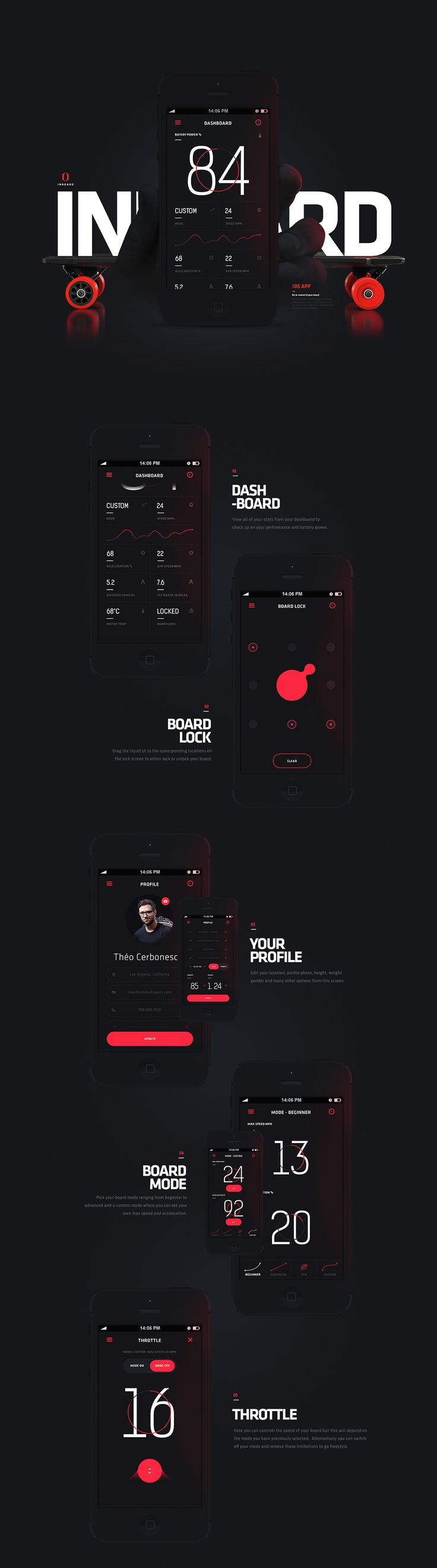 Inboard - Longboard App Controller on Behance