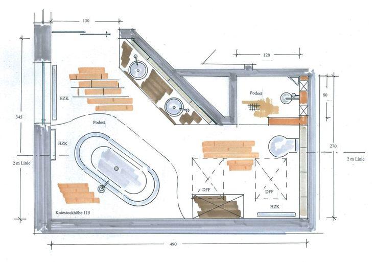 gemauerte dusche grundriss google suche bad pinterest bath and house - Mini Dusche Grundriss