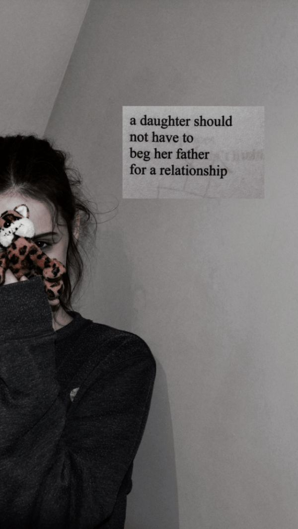 'a daughter should not have to beg her father for a relationship' milk and honey…