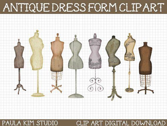 vintage dress clip art - photo #38